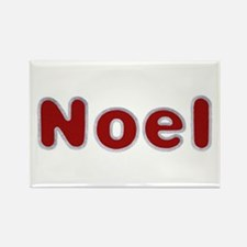 Noel Santa Fur Rectangle Magnet