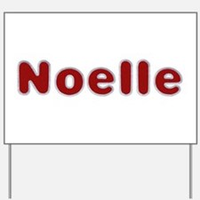Noelle Santa Fur Yard Sign