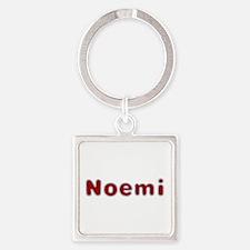 Noemi Santa Fur Square Keychain