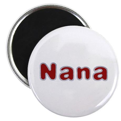 Nana Santa Fur Round Magnet 100 Pack