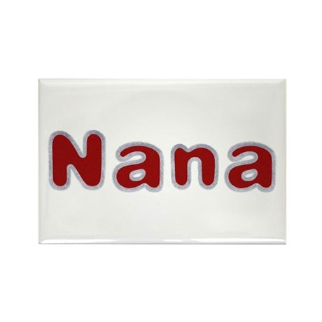 Nana Santa Fur Rectangle Magnet 100 Pack