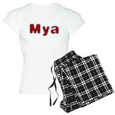 Mya Santa Fur Pajamas