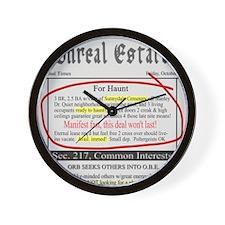 Unreal Estate Wall Clock