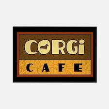 Corgi Cafe Rectangle Magnet