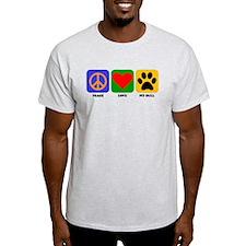 Peace Love Pit Bull T-Shirt