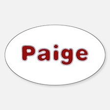 Paige Santa Fur Oval Decal