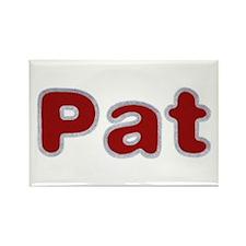 Pat Santa Fur Rectangle Magnet