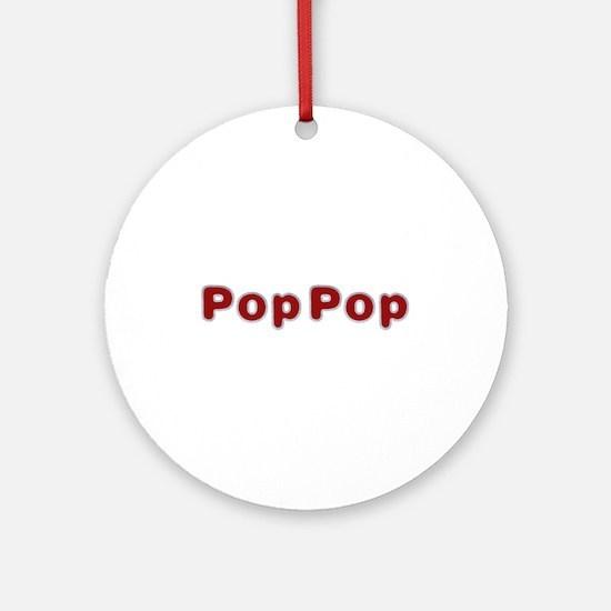 PopPop Santa Fur Round Ornament