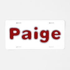 Paige Santa Fur Aluminum License Plate