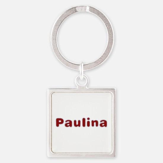 Paulina Santa Fur Square Keychain