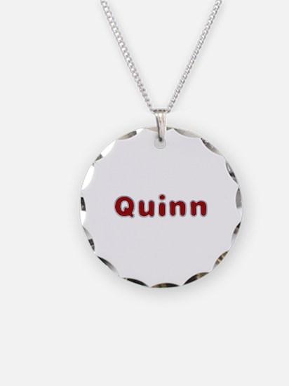 Quinn Santa Fur Necklace Circle Charm