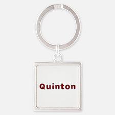 Quinton Santa Fur Square Keychain