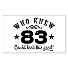 Funny 83rd Birthday Decal