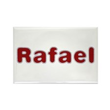 Rafael Santa Fur Rectangle Magnet