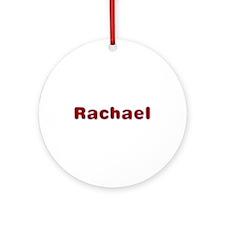 Rachael Santa Fur Round Ornament