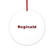Reginald Santa Fur Round Ornament