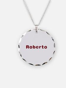 Roberto Santa Fur Necklace Circle Charm