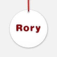 Rory Santa Fur Round Ornament
