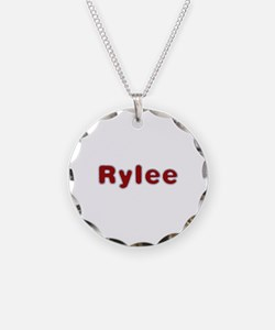 Rylee Santa Fur Necklace Circle Charm