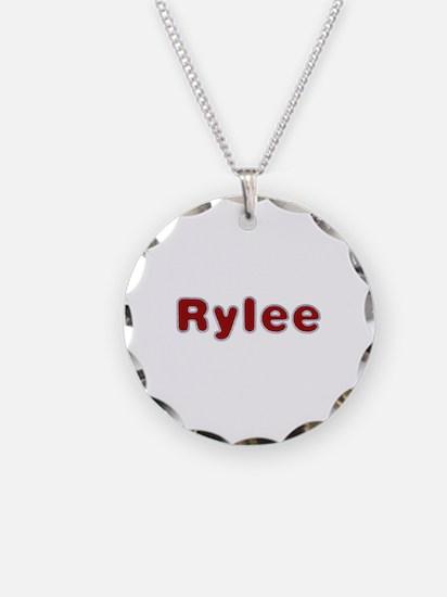 Rylee Santa Fur Necklace Circle Charm
