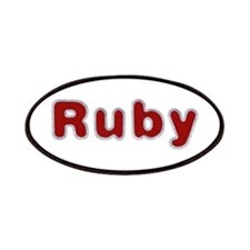 Ruby Santa Fur Patch