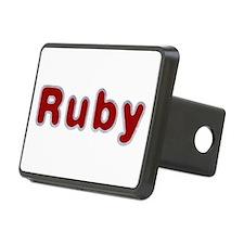 Ruby Santa Fur Hitch Cover