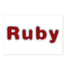 Ruby Santa Fur Postcards 8 Pack