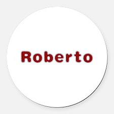Roberto Santa Fur Round Car Magnet