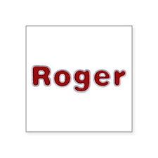Roger Santa Fur Square Sticker
