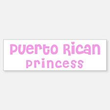 Puerto Rican Princess Bumper Bumper Bumper Sticker