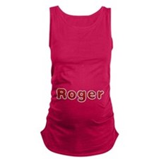 Roger Santa Fur Maternity Tank Top