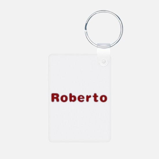 Roberto Santa Fur Aluminum Keychain