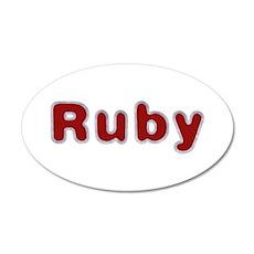 Ruby Santa Fur Wall Decal