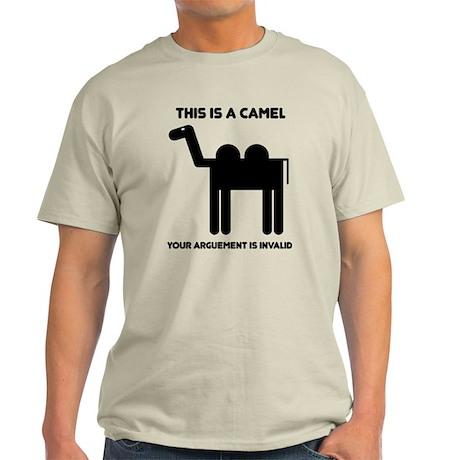 Geometric Camel T-Shirt