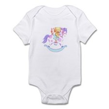 Rocking horse, bear and bunny Infant Bodysuit