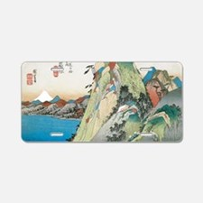 Lake at Hakone by Hiroshige Aluminum License Plate