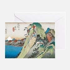Lake at Hakone by Hiroshige Greeting Card