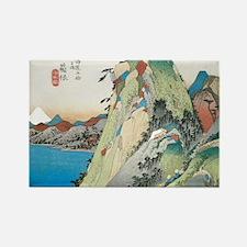 Lake at Hakone by Hiroshige Rectangle Magnet