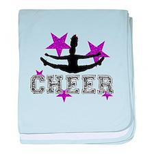 Cheerleader baby blanket