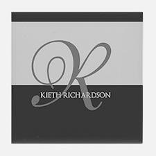 Elegant Custom Monogram Tile Coaster