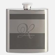 Elegant Custom Monogram Flask