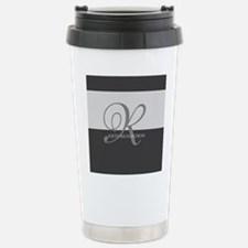 Elegant Custom Monogram Stainless Steel Travel Mug