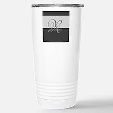 Elegant Custom Monogram Travel Mug