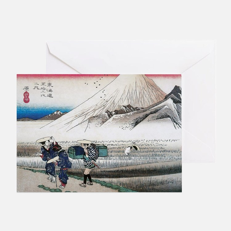 Mount Fuji in the Morning by Hiroshi Greeting Card