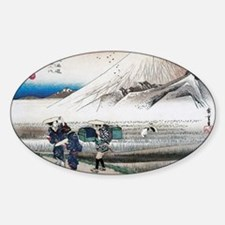 Mount Fuji in the Morning by Hirosh Sticker (Oval)