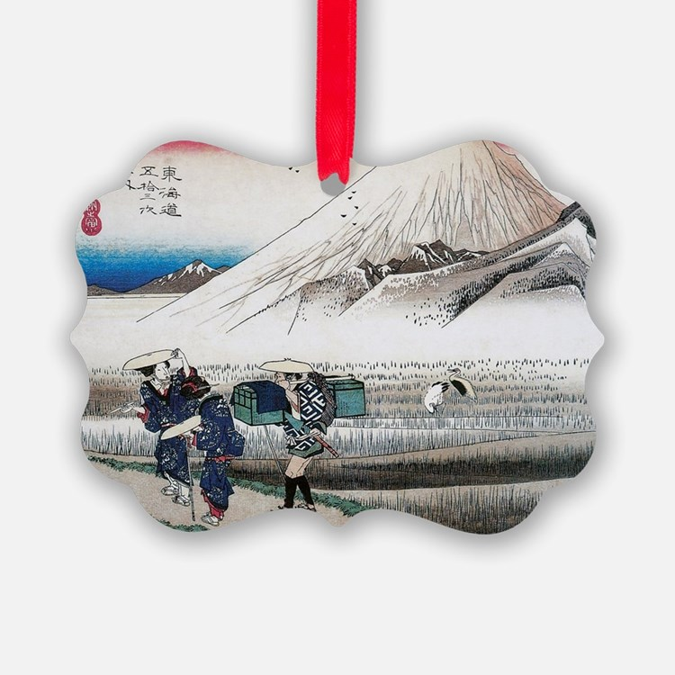 Mount Fuji in the Morning by Hiro Ornament