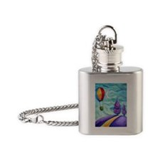 Hot air balloon Flask Necklace