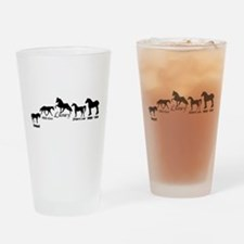 Horses Drinking Glass