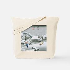 Night Snow at Kambara by Hiroshige Tote Bag