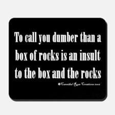 Box Of Rocks Mousepad